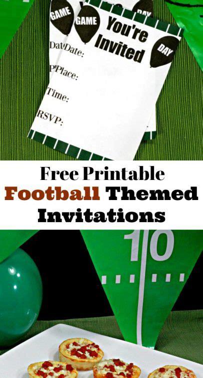 printable birthday invitations football theme game day party printable football themed invitations