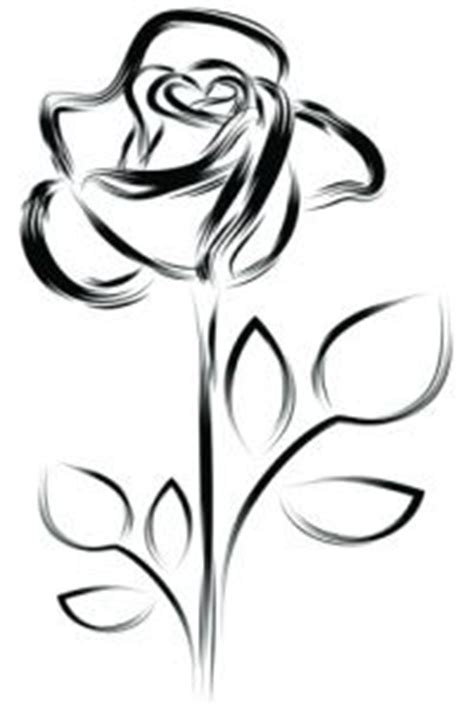 single rose outline clipart best