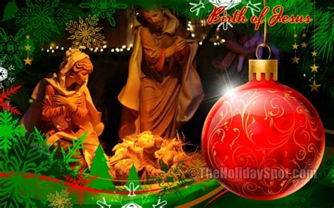 christmas jesus wallpaper download birth of jesus wallpapers from theholidayspot