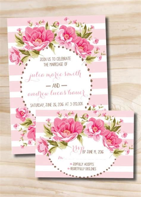 100 wedding invitations floral wedding invitation and response card 100 professionally printed invitations response