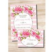 Floral Wedding Invitation And Response Card  100