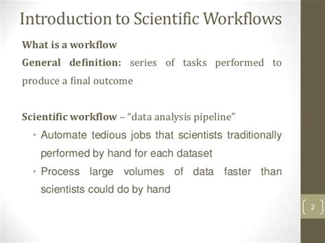 scientific workflow systems scientific workflows systems in discovery informatics