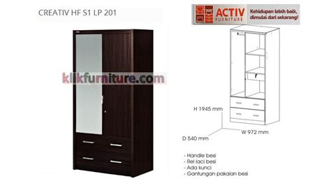 Lemari Pakaian Activ activ creativ hf s1 lp 201 lemari pintu 2