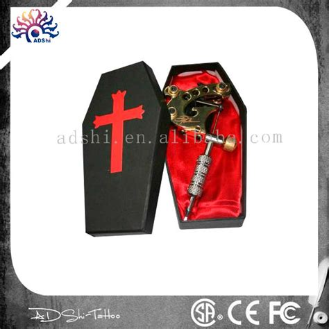 tattoo machine on carry on airplane black coffin tattoo machine gun carry case with red satin