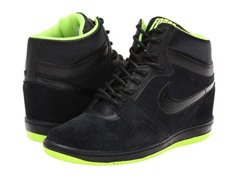 nike sneaker wedges nike sky high sneaker wedge zappos free