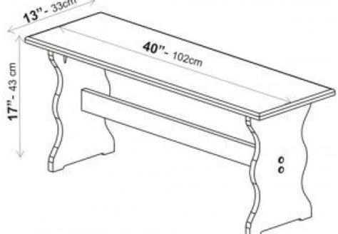 bench size guide grill size guide dimensions info