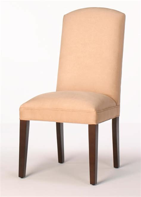 crescent back dining room chair with tapered legs