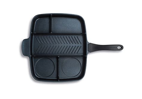 skillet mp create an entire meal with the master pan divided skillet