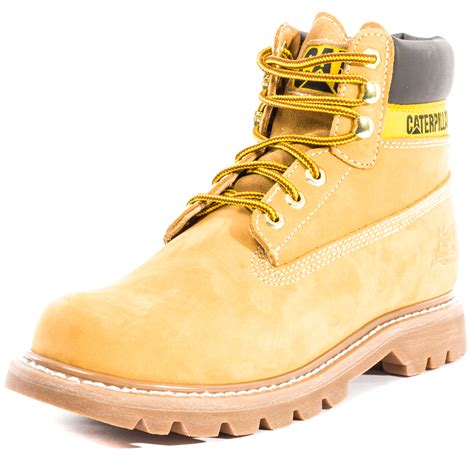 honey shoes caterpillar colorado unisex work ankle boots laced nubuck