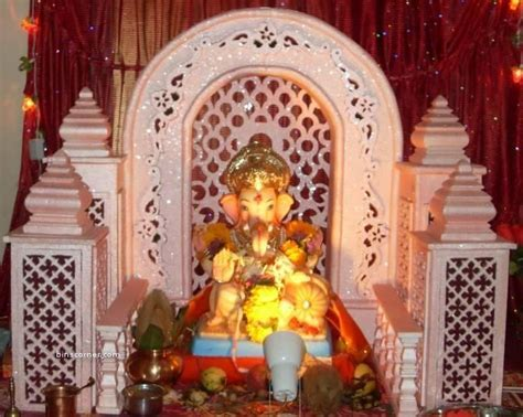 Pin by mohini chavan on makhar   Ganapati decoration