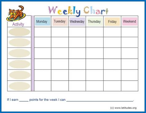 Free Printable Chore And Behavior Charts