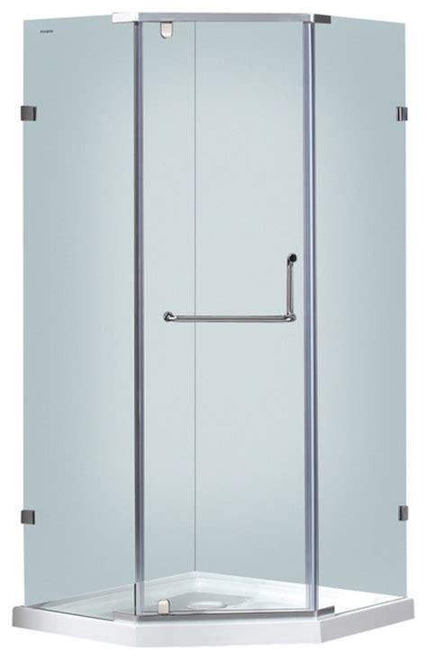 36x36 shower aston 36x36 neo angle semi frameless shower stainless
