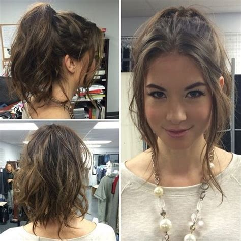 ponytail haircut for short layers front an top 35 super simple messy ponytail hairstyles