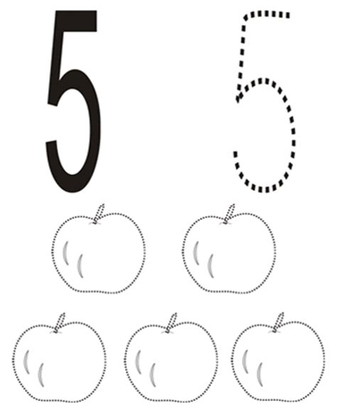 coloring pages for the number 5 number 5 coloring page