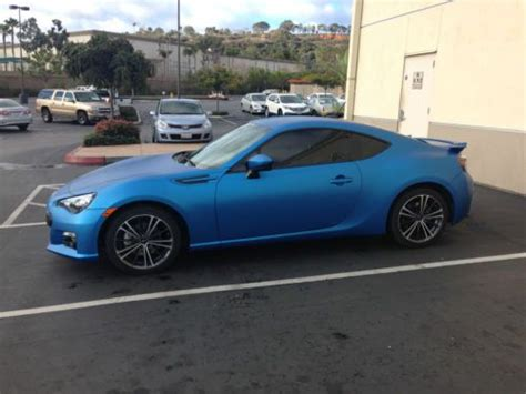 subaru wrapped find used 2013 subaru brz vinyl wrapped in 3m matte blue