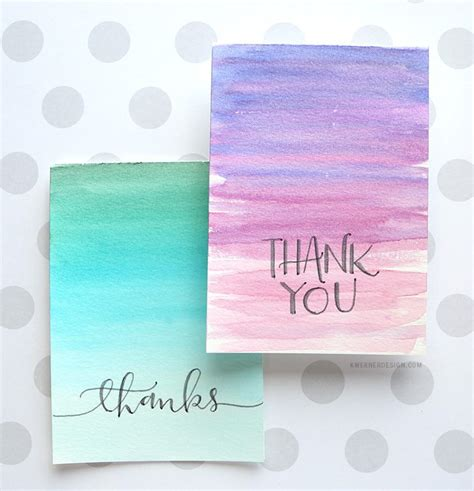 easy to make thank you cards easy diy thank you cards ombr 233 watercolor