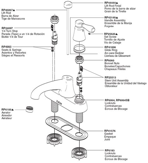 bathtub faucet parts diagram plumbingwarehouse com delta bathroom faucet parts for
