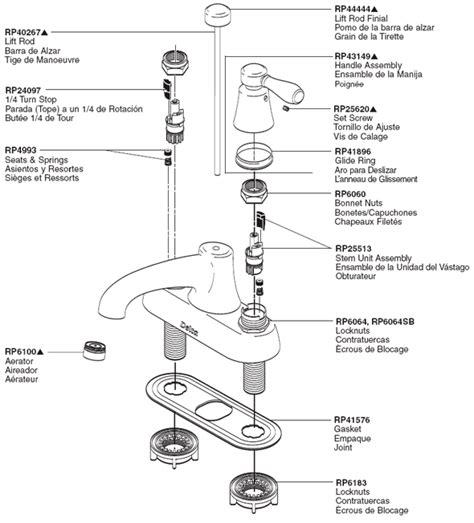 PlumbingWarehouse.com   Delta Bathroom Faucet Parts For Model 2542