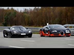 Koenigsegg Ccx Vs Bugatti Veyron 4k 50 350 Km H Race Bugatti Veyron Vitesse Vs