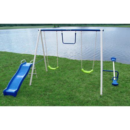 flexible flyer fun time metal swing set flexible flyer fun time metal swing set best swing sets