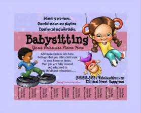 Babysitting Flyer Free Template by 11 Babysitting Flyers Psd Pdf