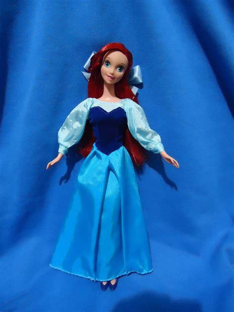 pattern for ariel blue dress ooak ariel doll in kingdom tour dress finally finished