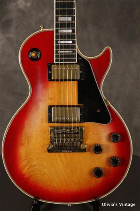 Tremollo Gibson gibson les paul custom w factory gibson kahler tremolo 1983 cherrry sunburst reverb
