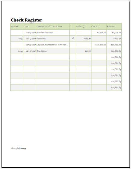 check register balance sheet template xls excel templates