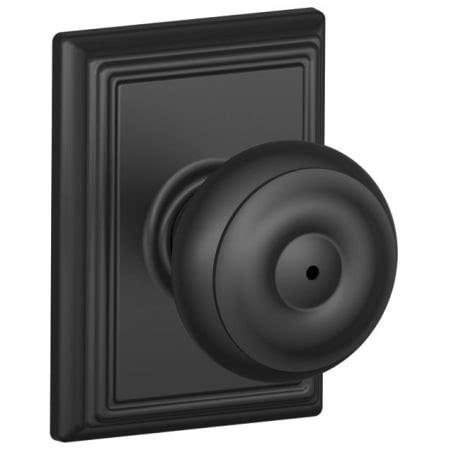 schlage f40geo622add matte black privacy georgian door