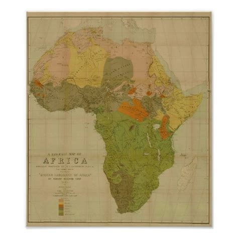africa map poster ernest george ravenstein language map of africa poster
