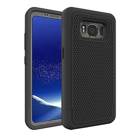 galaxy  active case aoker shock absorption slim fit scratch resistant hybrid dual layer