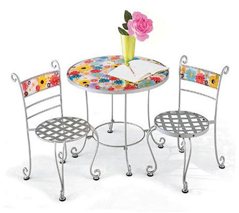 Childrens 3 Bistro Table And Chairs Set Qvc Com