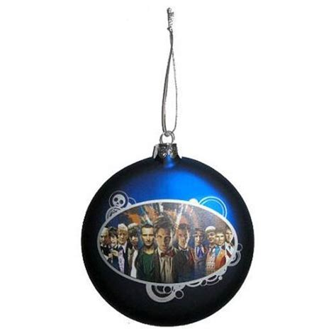 doctor who 11 doctors glass ball christmas ornament kurt