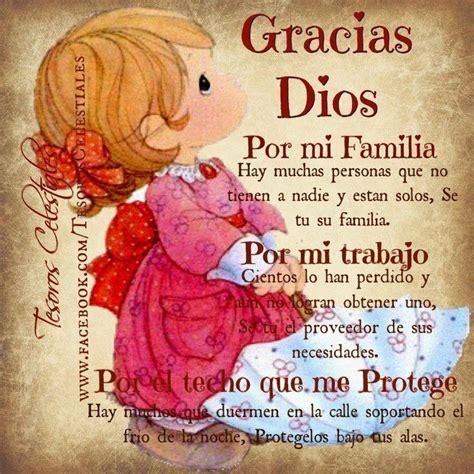 imagenes gracias familia gracias dios por mi familia por mi trabajo y por el techo