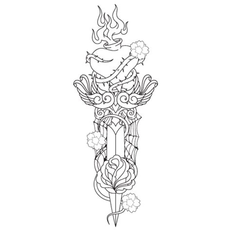 heart and dagger tattoo designs dagger tattoos