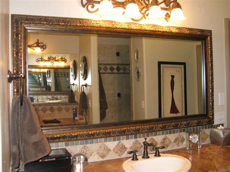 Beautiful And Elegant Mirror Frame Kits Traditional Beautiful Bathroom Mirrors