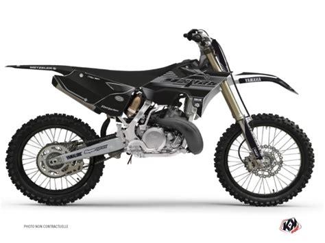 Kyt Cross White Black kit d 233 co moto cross black matte yamaha 125 yz rtech