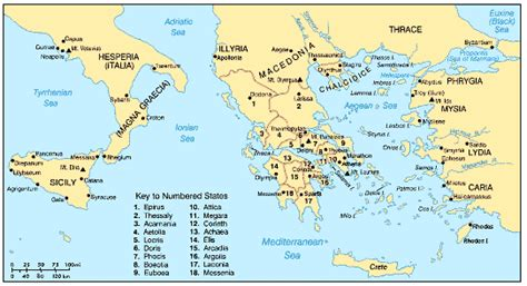 world map of ancient cities greece ancient chief cities and divisions of ancient