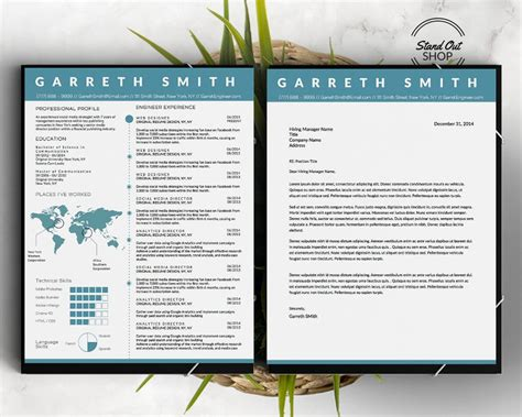 Resume Template Smith by Garreth Smith Engineer Resume Template Stand Out Shop