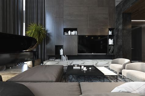 interiors for the home three luxurious apartments with dark modern interiors