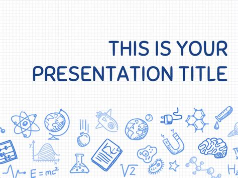 theme powerpoint science free download free presentation template playful science