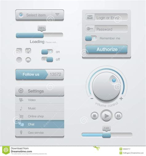 user interface templates user interface design elements template kit for a royalty