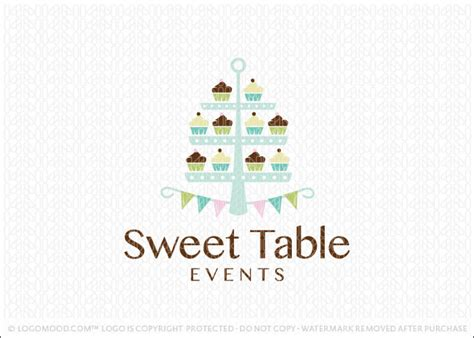 Readymade Logos for Sale Sweet Table Events   Readymade