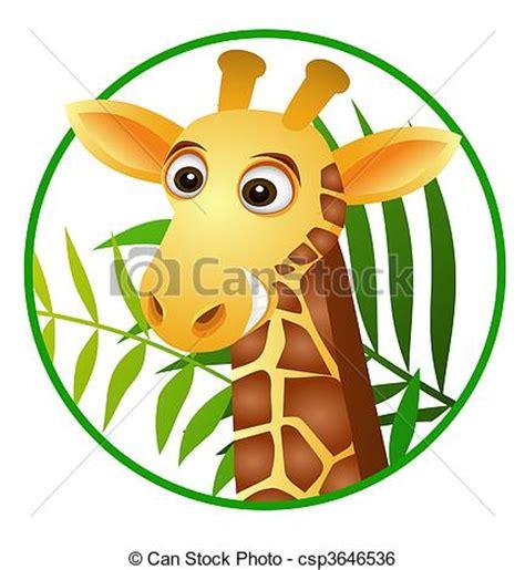 imagenes jirafas caricaturas clip art de vectores de jirafa caricatura vector