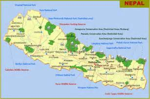 map of national parks nepal tourism directory nepal travel information nepal