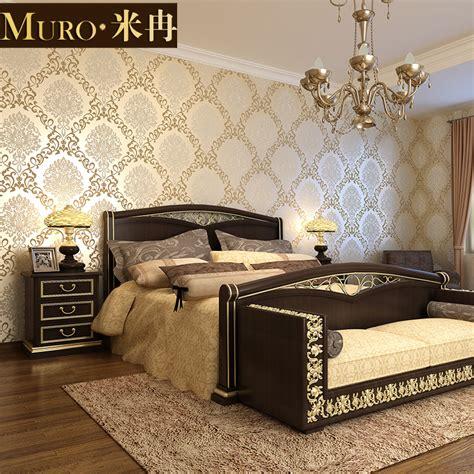 Bedroom Wallpaper Store Aliexpress Buy Royal Non Woven 3d Stereoscopic
