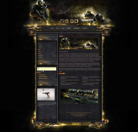 Csgo Global Offensive Joomla Csgo Website Template
