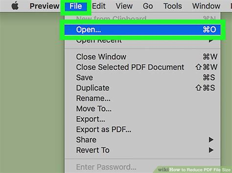 how compress pdf file mac 3 ways to reduce pdf file size wikihow