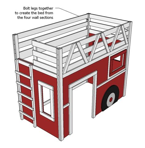 wood truck bed plans fire truck loft bed woodworking plans woodshop plans