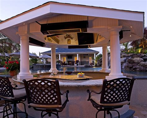 Exterior Casual Backyard Bars Designs With Comfortable Backyard Bars Designs